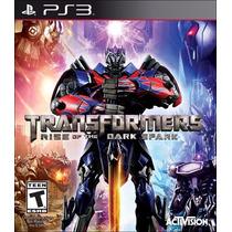 Jogo Transformers Rise Of The Dark Spark Ps3 Play 3 Novo