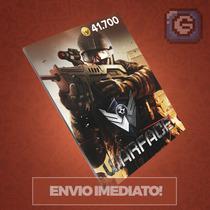Warface - Cartão De 41.700 Cash - Level Up - Envio Imediato!