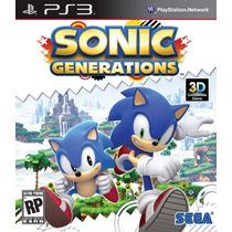 Sonic Generations - Ps3 - Lacrado - Original