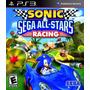 Ps3 - Sonic Sega All-star Racing - Em Disco Original