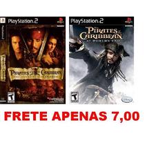 Piratas Do Caribe - Kit 2 Games Path Para Ps2 Playstation 2