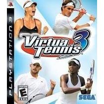 Jogo Virtua Tennis 3 Ps3 Novo Original Midia Fisica Lacrado