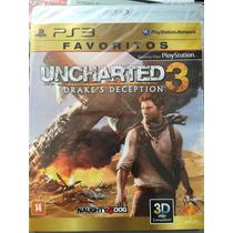 Ps3 Jogo Uncharted 3 Drakes Deception Novo
