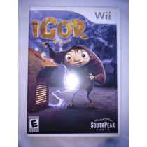 Jogo P/ Nintendo Wii Igor Completo - Usado!!!