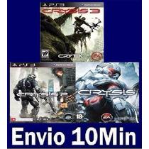 Crysis Trilogia (1,2 E 3) Ps3 Código Psn