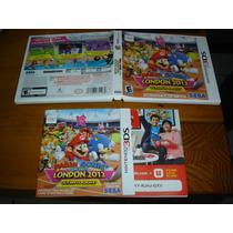 Sem Jogo, Só Caixa E Docs Nintendo 3ds Mario E Sonic