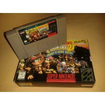 Donkey Kong 2 Original Mexicano C/ Caixa Para Super Nintendo