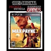 Ps3 - Max Payne 3 - Mídia Física