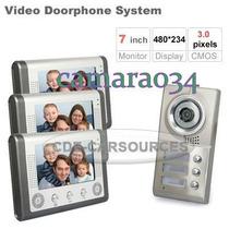 3 Em 1 Interfone 7 Color Monitor Câmara