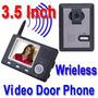 Interfone Video Porteiro Color Wireless 3.4 Visão Noturna