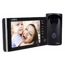 Interfone Vídeo Porteiro Intelbras Color Iv7000 Tela 7 Black