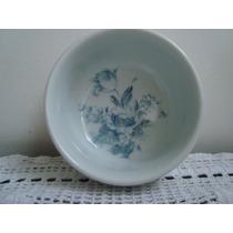Tigelinha Porcelana Polovi Germer Decoração Floral Azul