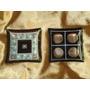 Lindos,raros Enfeites De Mesa Vidro Veneziano Dec.ouro,déc80
