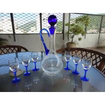 Promoção: Licoreira De Vidro Com 6 Tacinhas