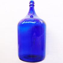 Garrafão Em Vidro Azul Antiguidade Decoração Objetos Antigos