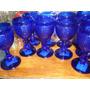 Taças Bico De Jaca Azul Cobalto