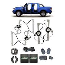 Kit Vidro Eletrico Nova Ranger 2015 14 4 Portas Completo