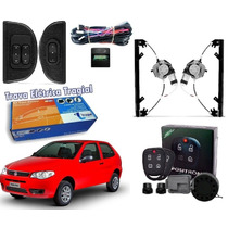 Kit Vidro Eletrico Novo Palio Fire Way 2015 2p.+trava+alarme
