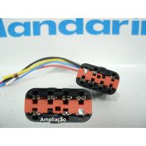Conector Plug Botao Vidro Eletrico Ká Fiesta Ecosport