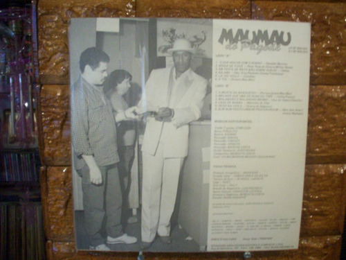 Vinil Lp Mau Mau Do Pagode - Pagode No Jogo Do Bicho