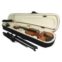 Kit Violino 4/4 C/ Espaleira Arco Estante Partitura Afinador