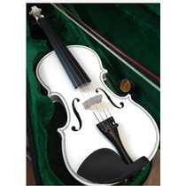 Violino Branco Importado Profissional Mont Blanc 4/4 Ou Troc