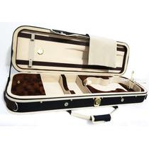 Estojo Case Luxo Retangular Para Violino 4/4 Higrômetro
