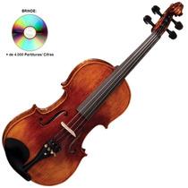 Violino Vk544 4/4 Envelhecido Eagle Com Estojo Super Luxo