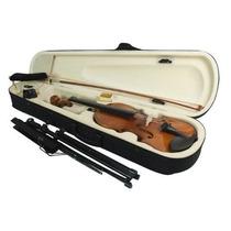 Violino 2/4, Kit Estojo Arco Espaleira Breu Estante Afinador