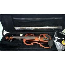 Violino Eagle Ev744 Elétrico+estojo Higrômetro+fone