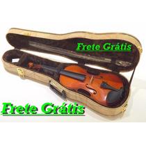Violino Opus 4/4 Novinho Arco Estojo De Madeira Frete Grátis