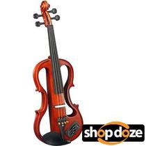 Violino Elétrico Eagle Ev744 4/4 C/ Arco,breu Case Térmico