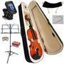 Violino 4/4 Acústico + Estojo Luxo Arco Breu Cavalete E Nfe