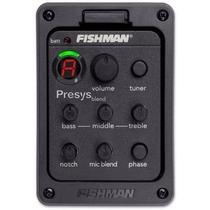 Captador Fishman Presys 301 C/ Microfone E Afinador Violão