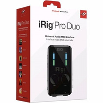 Irig Pro Duo Audio/midi Interface Iphone Ipad Android Mac Pc