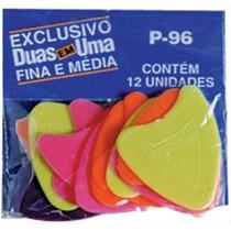 Palheta Plás. Violão Cavaquinho Etc.rouxinol P96 -pacot C/12
