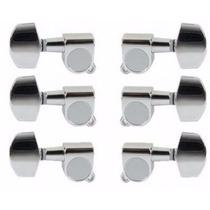 Kit Tarraxa Para Violão Aço Blindada 3x3 Strinberg J01cr
