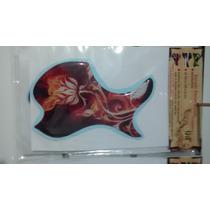 Escudo Para Violão Folk-boca Rosa Del Fuego