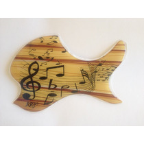 Escudo Rrp Para Violão De Boca Oval Music And Wood