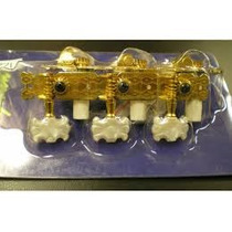 Tarraxa Para Violão 3+3 Pino Fino Luxo Dourada Dolphin
