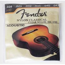 Cordas Nylon Violão - Fender Original + Brinde - Frete Fixo