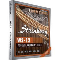Encordoamento Para Violão Aço Ws12 Strinberg - Frete Grátis