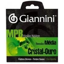 Encordoamento Giannini Violão Nylon Cristal Ouro-mpb