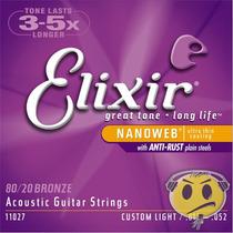 Encordoamento Violao Elixir 011 Bronze 80/20 O F E R T A