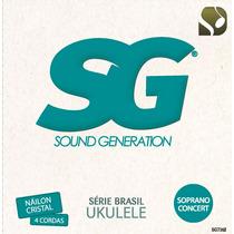Encordoamento Ukulele Tenor Soprano Concerto Sg Jogo 7162