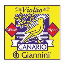 Cordas P/violão Nylon Genw Tensão Média 12un Giannini