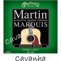 Encordoamento Violão Martin Marquis Aço Phosphor Bronze 010