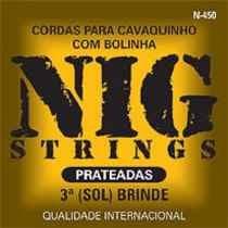 Encordoamento Nig P/ Cavaquinho N-450 3° Corda Brinde