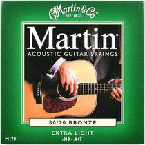 Encordoamento/cordas Martin 0,10 Para Violão