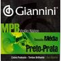 Encordoamento Giannini Mpb Para Violão Náilon Preto Prata